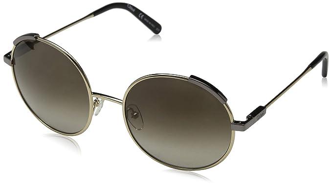 Chloé Ce117S 754 56, Gafas de sol para Mujer, Light Gold ...