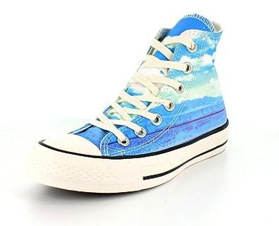 Converse 551007C, Baskets Montantes Femme Bleu