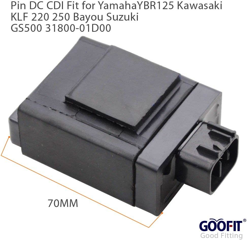 GOOFIT 6 Pin DC CDI f/ür Yamaha YBR125cc Motorrad