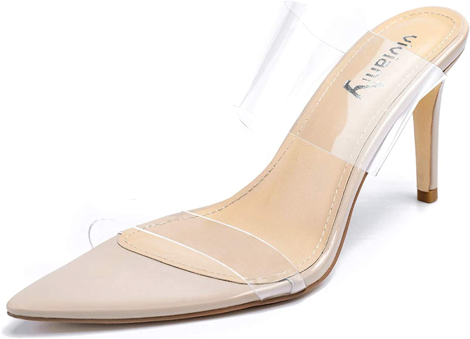 vivianly Clear Pointed Toe Sandals