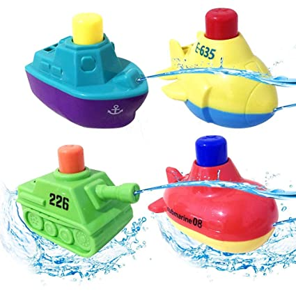 d12f68c334b30 Keklle Bath Toys, Pool Toys, Boat Set, Speed Boat, Bathtub Toy, for  Toddlers Boys and Girls
