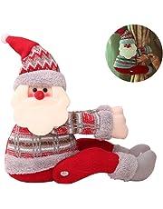 Hilai Navidad Cortina Hebilla Clip Tie Back Lindo Dibujos Animados muñeca Navidad Santa Claus Cortina tiebacks Ventana decoración Inicio Decorados Adornos