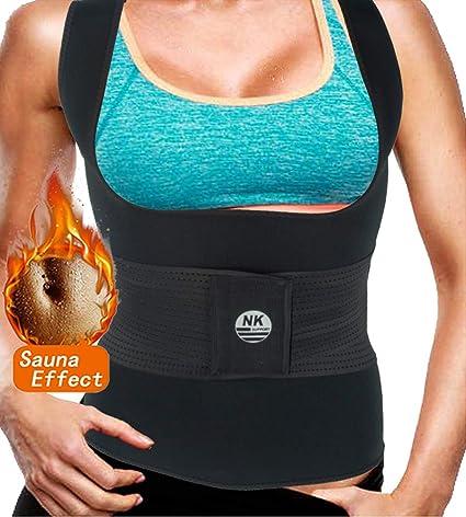 Hioffer Men Sauna Sweat Suits Waist Trainer Corset Vest For Weight Loss Shapewear Slim Belt Neoprene Workout Suit