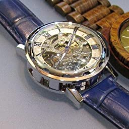 Amazon Co Jp Bienna 腕時計 レザーバンド アンティーク風 スケルトン 機械式 手巻き アナログ表示 ローマ数字 クラシック メンズ レディース 兼用 ブロンズ ブロンズ 白 腕時計