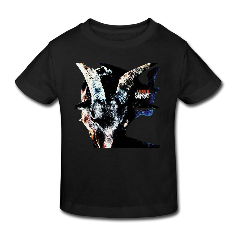 PaulineDM Slipknot Iowa Childs Tee for Girls /& Boys T Shirt Black