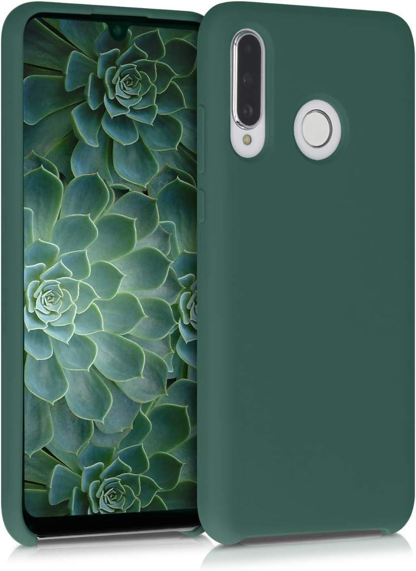 Protector Trasero en Gris Claro Mate kwmobile Funda Compatible con Huawei P30 Lite Carcasa de TPU Silicona