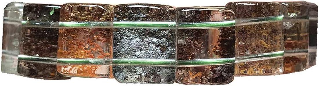 Top Natural Fantasma Pulsera de cuarzo fantasma para mujer y hombre, cristal transparente, 14 x 11 mm, joyería elástica AAAAA