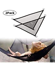 Reptile Hammock, WooyMoo 2 Packs Pet Hammock with Breathable Mesh,Lizard Hammock for Large & Small Bearded Dragons Lizards or Snakes