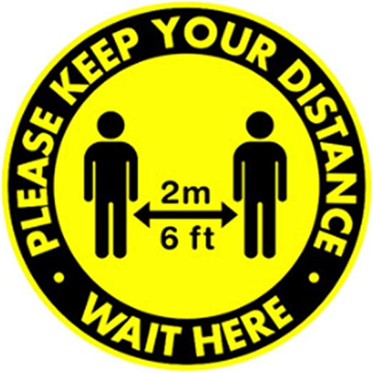 Safety Floor Sign KEEP YOUR DISTANCE-Anti-Slip Social Distancing Floor Decals