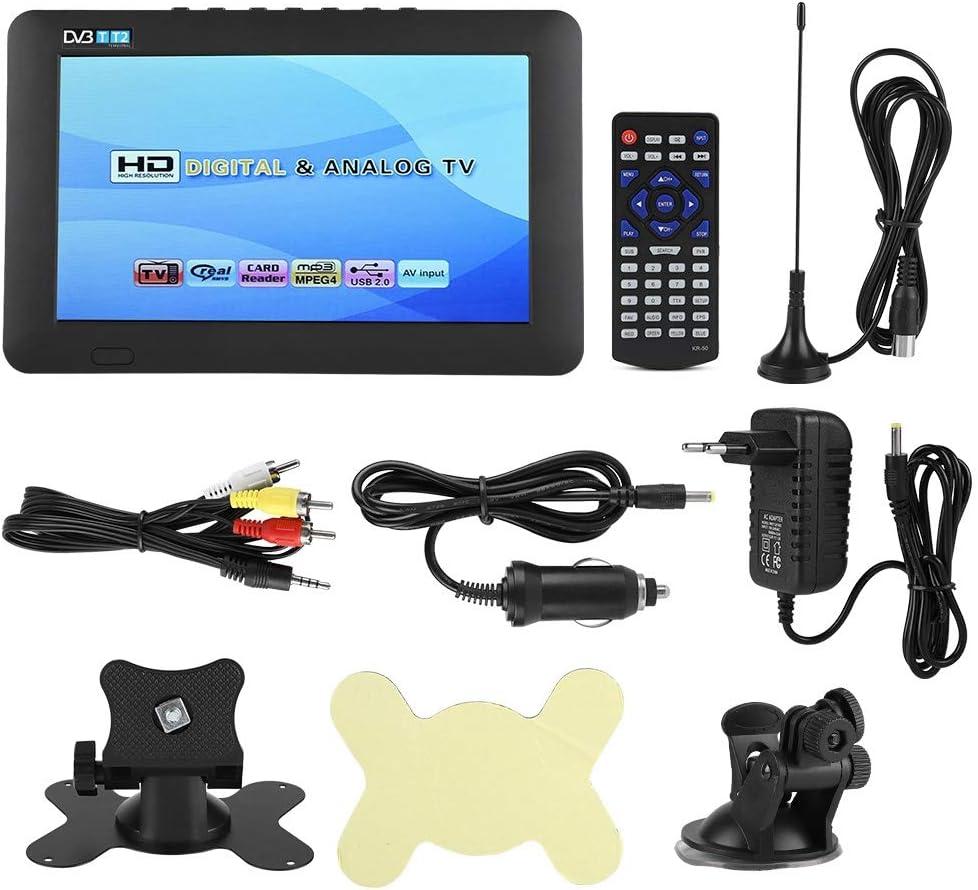 Qinlorgo Televisión Digital portátil, DVB-T2 Alta sensibilidad TV Digital para automóvil Práctico estéreo Envolvente 1080P Televisión para automóvil(9 Pulgadas): Amazon.es: Electrónica