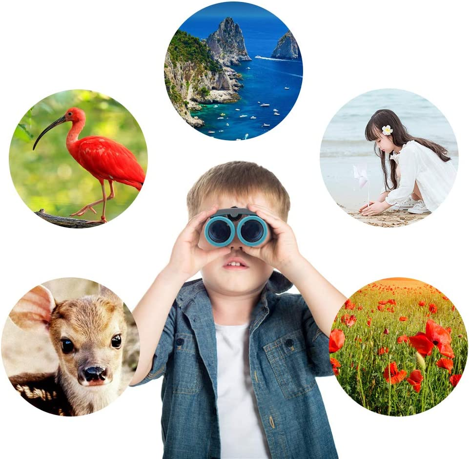 UUSTAR Toys/Gifts for 3-12 Year Old Boys, Binocular for Kids 10x22 High-Resolution Compact Shockproof Folding Mini Telescope for Bird Watching, Travel, Camping: Camera & Photo