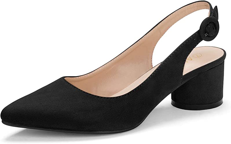 timeless design preview of 100% genuine Allegra K Women's Pointed Toe Slingback Pumps: Amazon.co.uk: Shoes ...