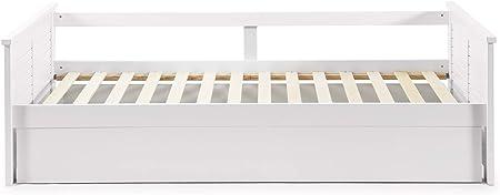 VS Venta-stock Cama Nido Juvenil Camila 90X190, Color Blanco, Dimensiones: 199cm (Largo), 105cm (Ancho) y 62cm (Alto)