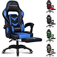 ALFORDSON Gaming Chair Racing Chair Executive Sport Gordon Office Chair with Footrest PU Leather Armrest Headrest Home…