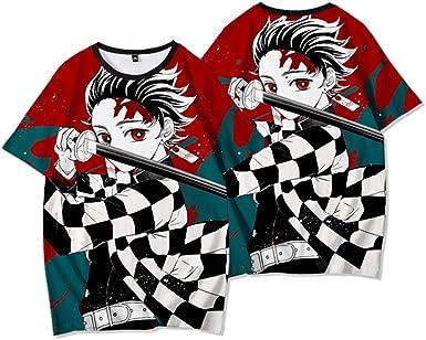 Demon Slayer:Kimetsu No Yaiba T-Camisa,Anime Print Crew Cuello Manga Corta para Fan De Anime: Amazon.es: Ropa y accesorios