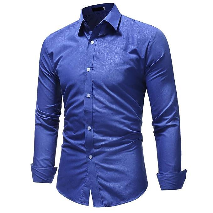 cc0f33c582 YanHoo Camisa de Hombre Camisa de Manga Larga Casual Masculina Pura Color  sólido Moda Comprar Ropa Online Hombre Suéter Nuevo Otoño e Invierno de  2018  ...