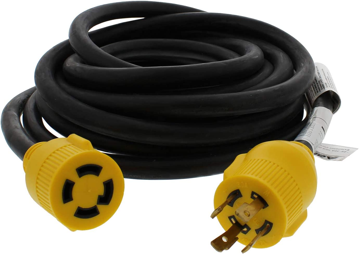 50/' Foot ABN 30 AMP RV Power Cord with Female Receptacle 30A Power Cable Camper Power Extension 7.6m Long Reach