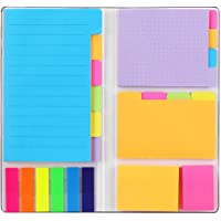 Sticky Notes Set, Hommie Colored Divider Self-Stick Notes Pads Bundle, Prioritize with Color Coding, 60 Ruled (3.7x6…
