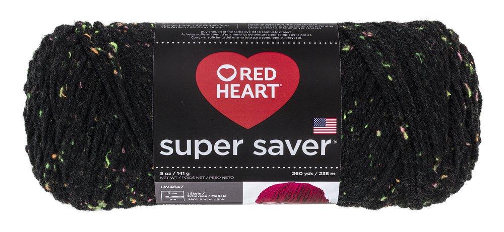 Abrigos de Lana Corazón Rojo Super Saver Yarn-Neon Fleck: Amazon.es: Hogar
