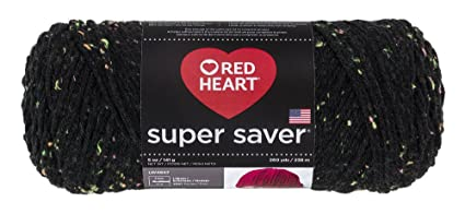 Abrigos de Lana Corazón Rojo Super Saver Yarn-Neon Fleck