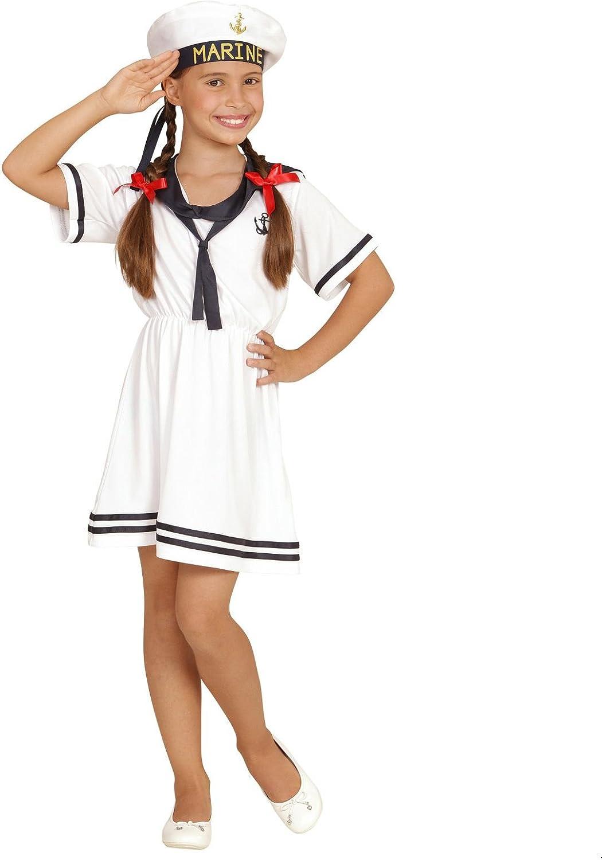 Niños Disfraz – Retro Sailor Girl – Tamaño 140 cm (8 – 10 años ...