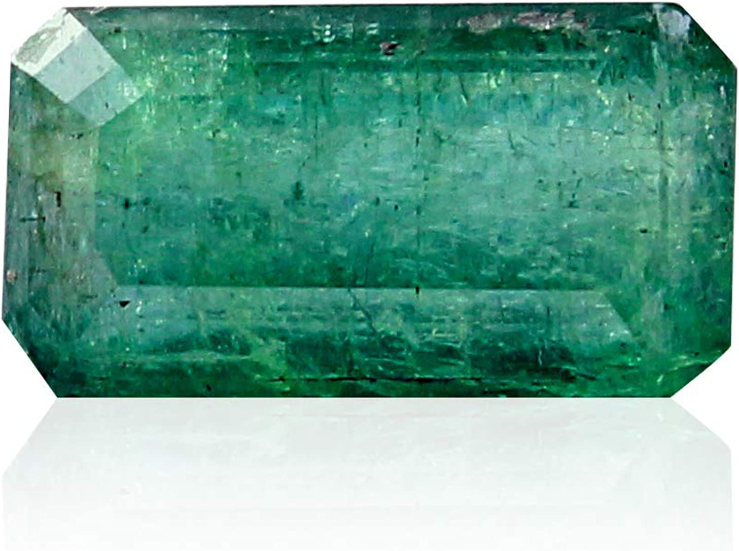 Jaipur Gems Mart 4,95 Quilates en Forma de pera Natural de Zambia facetada Verde Esmeralda Cabochan Pieza para Hacer la joyería, Pendiente de la Esmeralda, Curación Gema, Piedra astrológico
