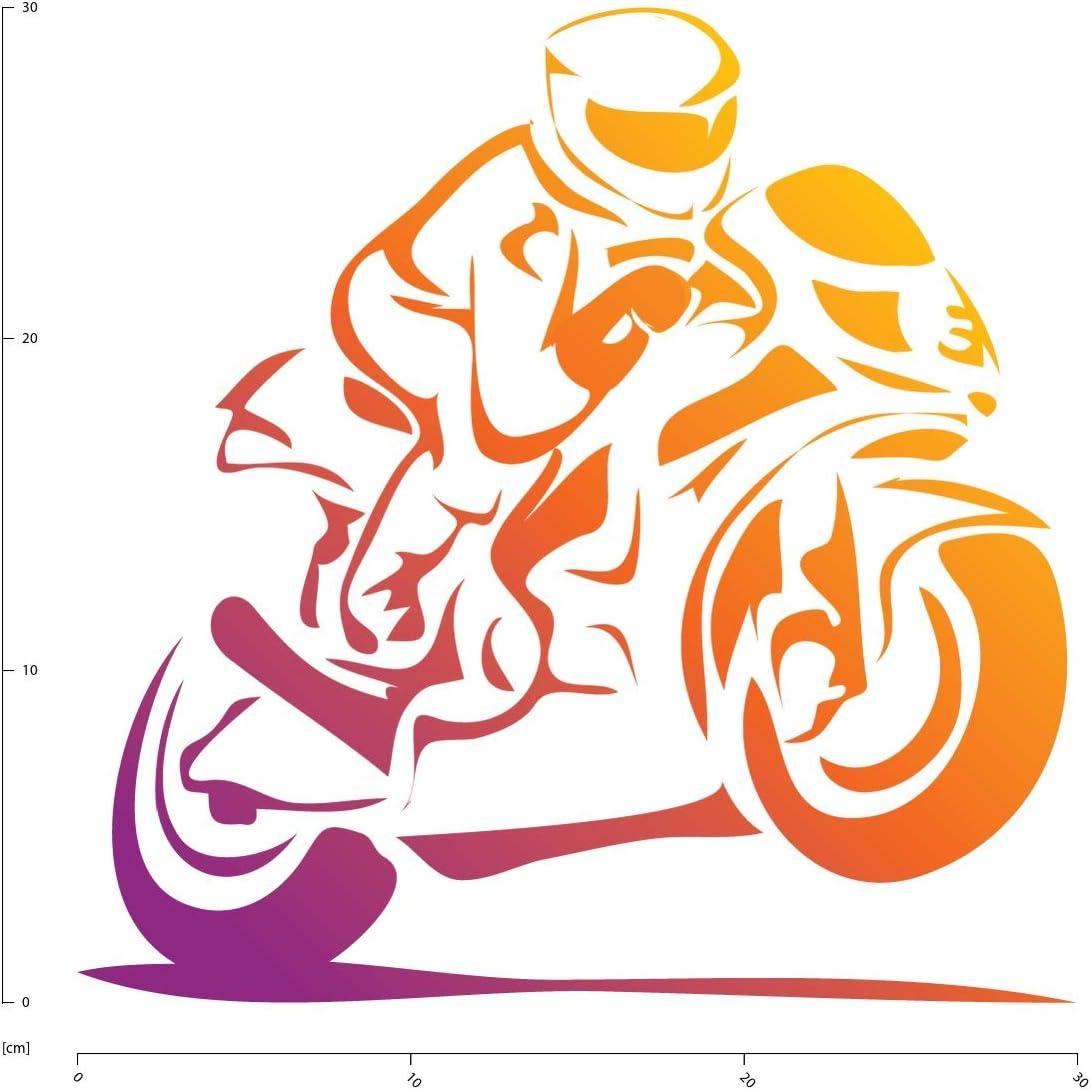 Motorcycle Bike Motorbike Wall Art Sports Wall Decal Racing Wall Stickers 03