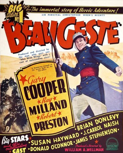 Beau Geste Poster - Beau Geste Poster Movie D 27x40 Gary Cooper Ray Milland Robert Preston