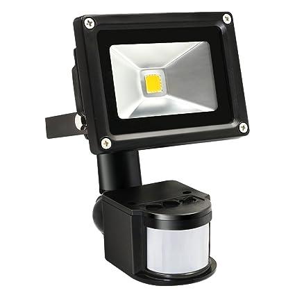 10 W exterior PIR Luz de seguridad LED luz de inundación – 39 M Rango de