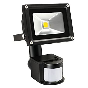 Good TORCHSTAR Motion Sensor LED Light 10W High Power Flood Lights, Waterproof  PIR Sensor Security Light