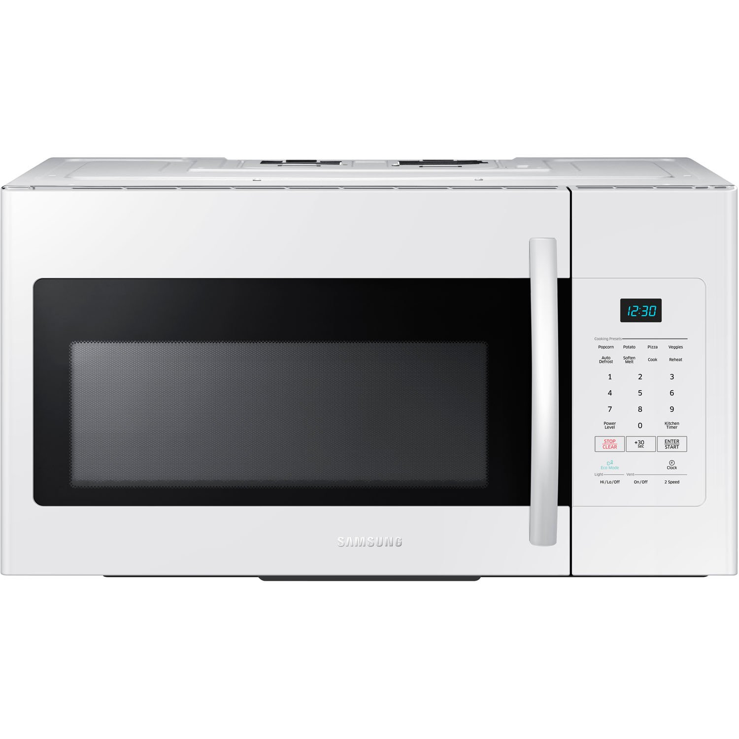 Samsung ME16H702SEW 1.6 Cu. Ft. 1000W Over-the-Range Microwave, White by Samsung