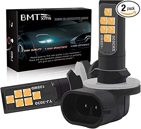 BMTxms Canbus 880 H27W//1 H27W1 LED Bulb Fog Lights 2Pcs 880 12SMD, Blue 880 886 889 892 893 890 862 881 884 885 894 898 899 Auto Fog Light LED Fog Bulb Foglight DRL Light Daytime Running Lights