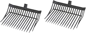 IZEXE 2Pack Future Fork Replacement Heads,Plastic Manure Fork for Horses
