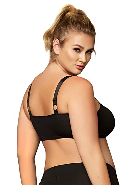 53149eeaa82 Amazon.com: Seven 'til Midnight Plus Size Seamless Cage Sports Bra, Plus  Size Cage Sports Bra: Clothing