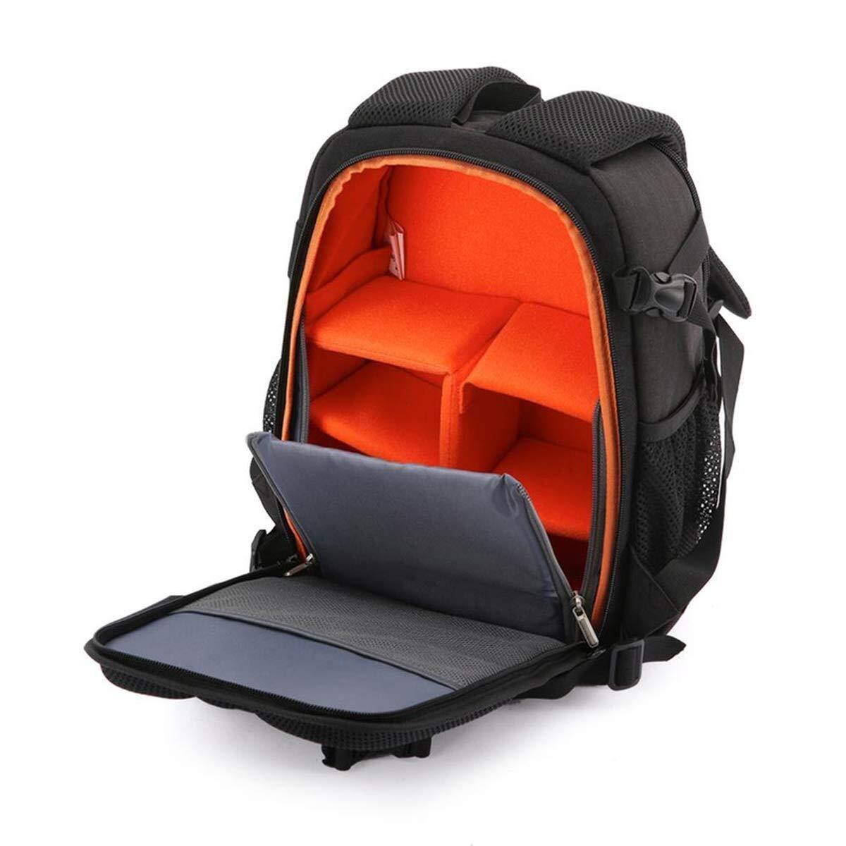 スタイリッシュなカジュアル一眼レフカメラバックパック軽量大容量カメラバッグ防水オックスフォード布屋外旅行コレクションラップトップバッグ いいよ (色 : オレンジ) オレンジ