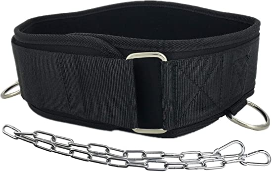 JuanFU Weight Lifting Belt with Chain for Weighted Dips, Pull Ups