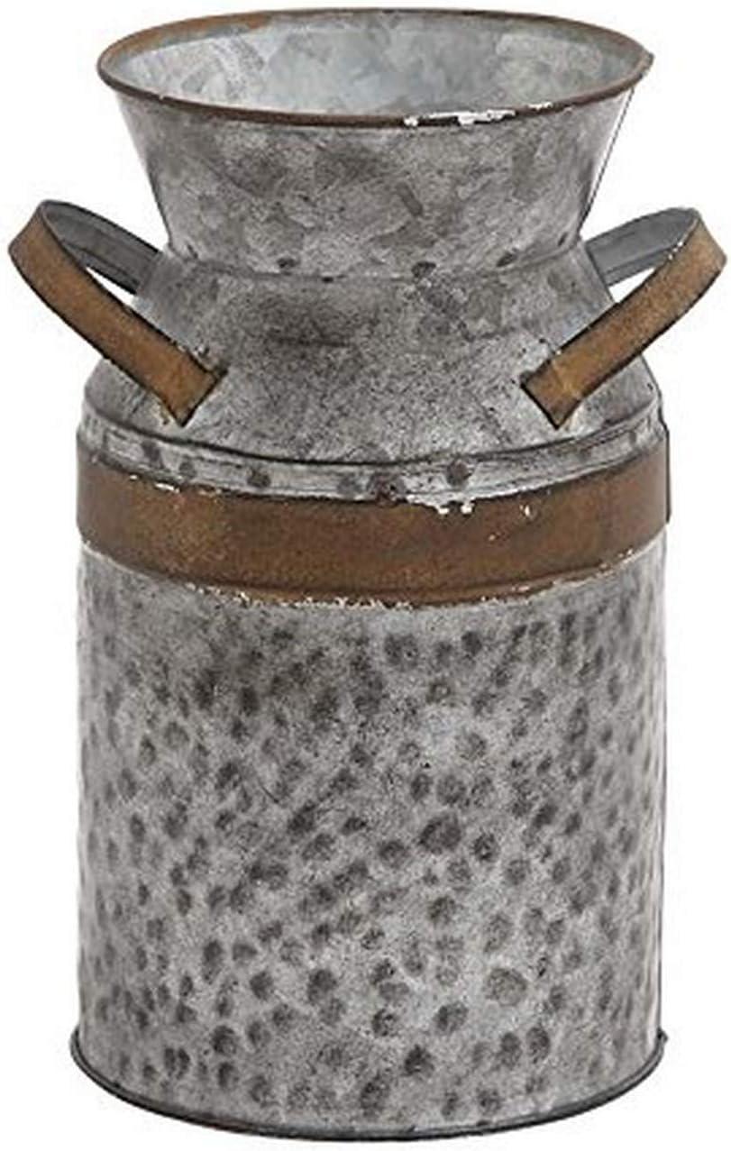 Deco 79 Metal Galvanized Milk CAN 7 L x 5.5 W x 9 H