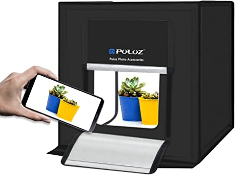 Caja de Fotografía PULUZ Estudio de Fotografía Plegable Portátil Kit de Caja de Luz 60x60cm Soft Box para Hacer Fotos Profesional con 3 Fondos (Naranja Negro Blanco): Amazon.es: Electrónica
