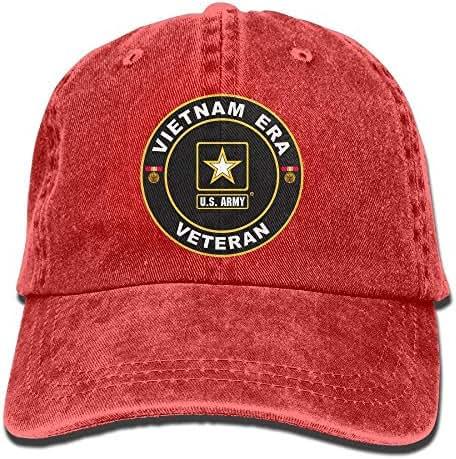 Aegatelate-hat U.S. Army Vietnam Era Veteran Adjustable Baseball Caps Denim Hats Cowboy Sport Outdoor