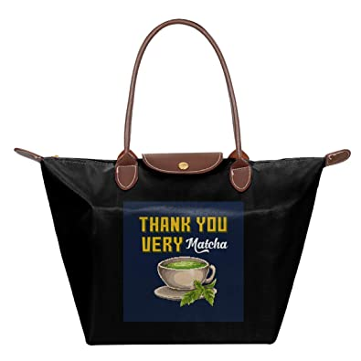 Thank You Very Matcha - Bolsa de viaje plegable de nailon ...