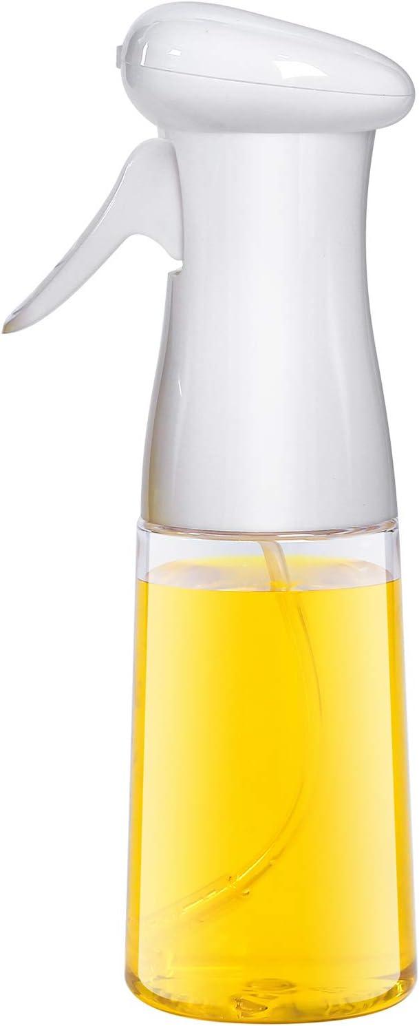 AMINNO Oil Sprayer for Cooking, Oil Sprayer Mister for Air Fryer, Versatile Oil Spray Bottle for Grilling Roasting Baking Salad BBQ, Food Grade BPA free, Ergonomically Designed Trigger 7oz/200ml