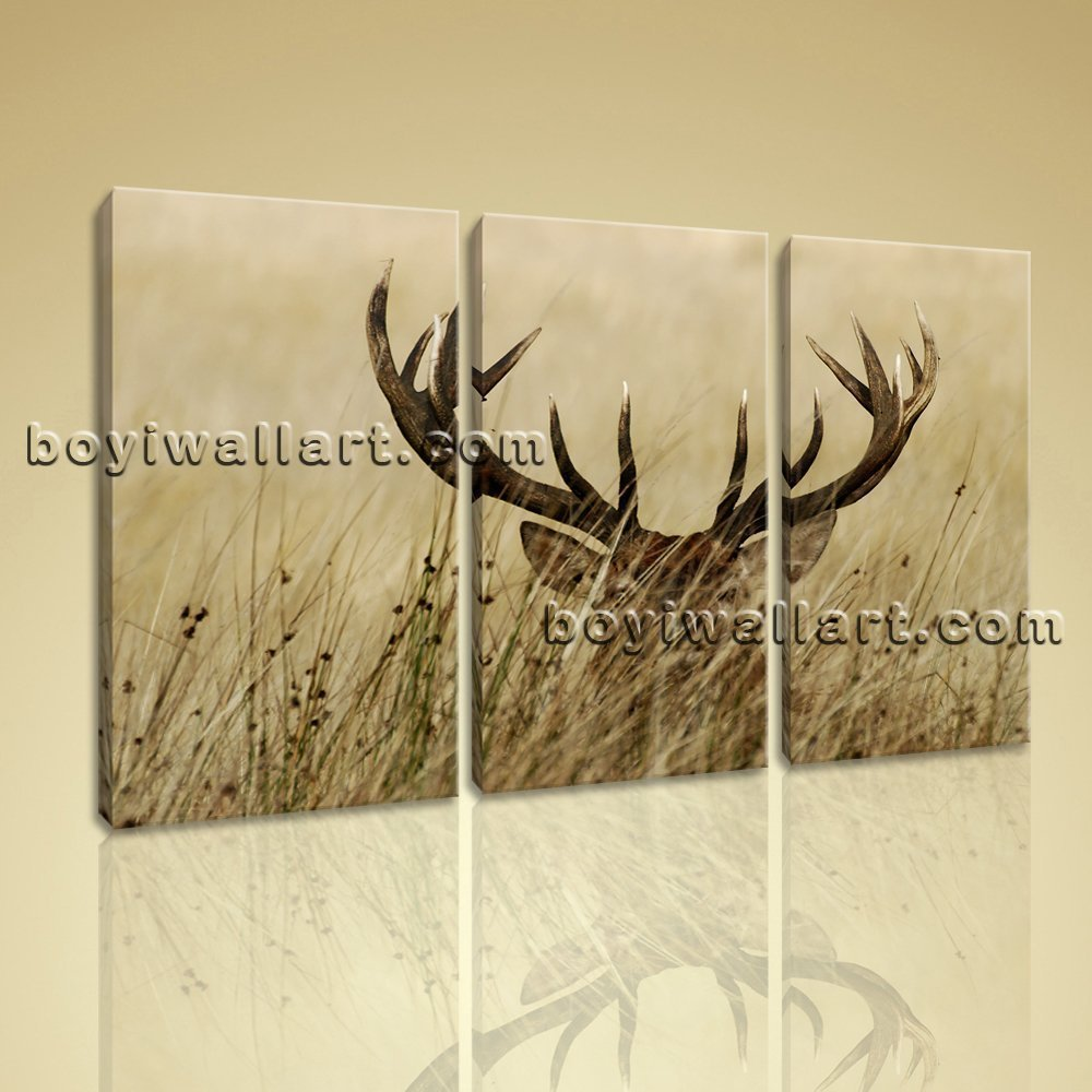 Amazon.com: Large ELK Animal Contemporary Wall Art Print Bedroom ...