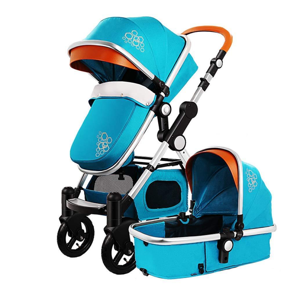 MINISU Säugling BabStroller Travel Sstems Folding SafetNew Born Verstellbarer Leichter, Verstellbarer Kinderwagen Universal (Folding Größe  30.7  12.2 Zoll), rot-A Reise (Farbe   Gelb, Größe   C) Blau A