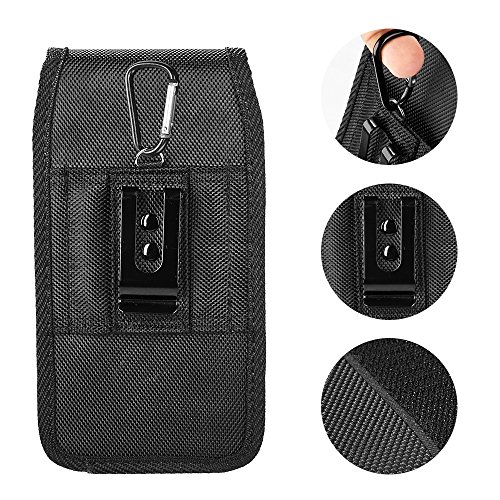 AIScell Metal Belt Clip Holster For Iphone 8 Plus, 7 Plus,6S/6 Plus ~Extra Large Ultra Rugged Pouch Nylon Canvas Case (Fit Phone With Lifeproof,Otterbox Defender,Battery Case,Thick Hybrid Cover) by AIScell (Image #8)