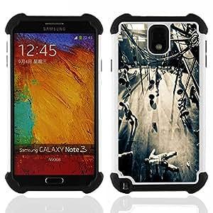 /Skull Market/ - Never Hit Soft Boxing For Samsung Galaxy Note3 N9000 N9008V N9009 - 3in1 h????brido prueba de choques de impacto resistente goma Combo pesada cubierta de la caja protec -