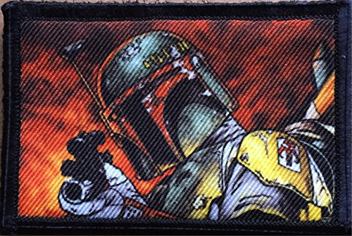 Star Wars Boba Fett Morale Patch. Perfect for your Tactical Military Army Gear, Backpack, Operator Baseball Cap, Plate Carrier or Vest. 2x3