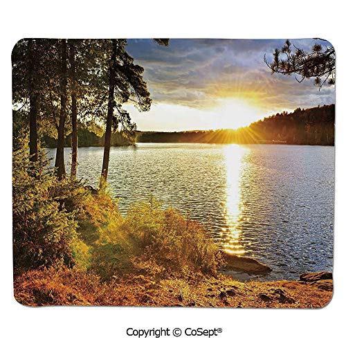Ergonomic Mouse pad,Sunset Dawn in The Forest Over Lake of Two Rivers Algonquin Park Ontario Canada,for Computer,Laptop,Home,Office & Travel(11.81