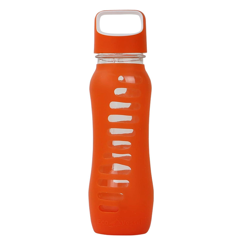 Ecovessel Surf Sport Glas Wasser Flasche Mit Schutzhülle Silikon Sleeve UND Loop Top – 22 Unzen