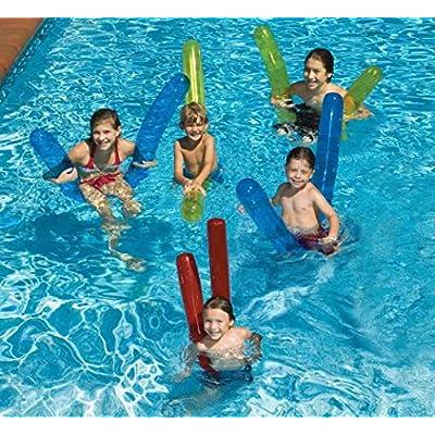 Swimline Doodles Inflatable Pool Noodle Float, 6 Count: Garden & Outdoor