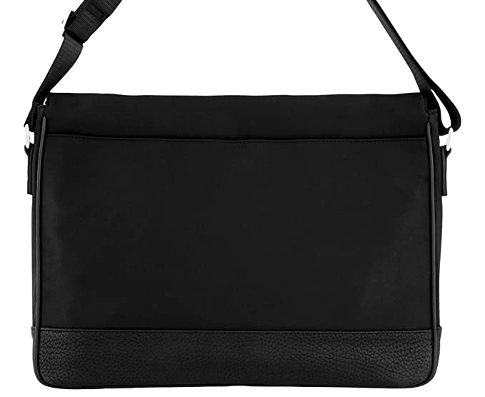 Amazon.com  Calvin Klein Cotton Nylon Flap Messanger Bag W Pebble PU Trim   Blue-Jean df0fa32f31